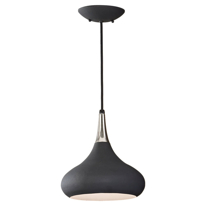Generation Lighting P1253BK Feiss Belle 1 Light Pendant in Black
