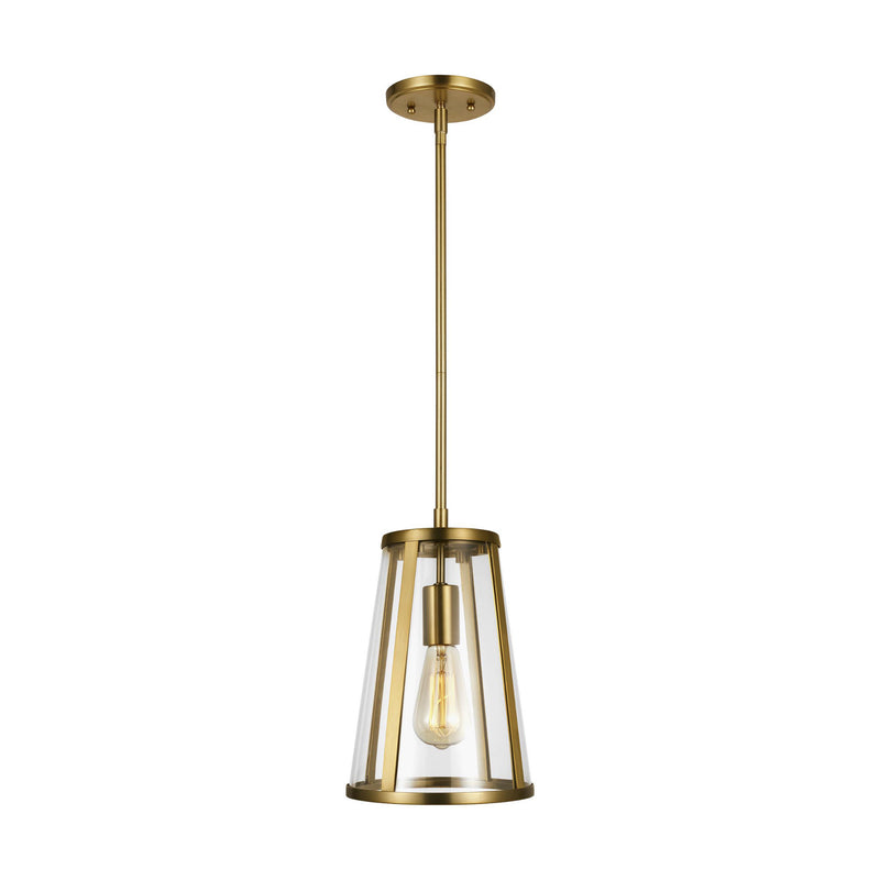 Generation Lighting P1287BBS Feiss Harrow 1 Light Pendant in Burnished Brass