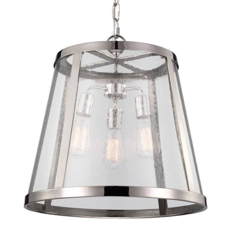 Generation Lighting P1288PN Feiss Harrow 3 Light Pendant in Polished Nickel