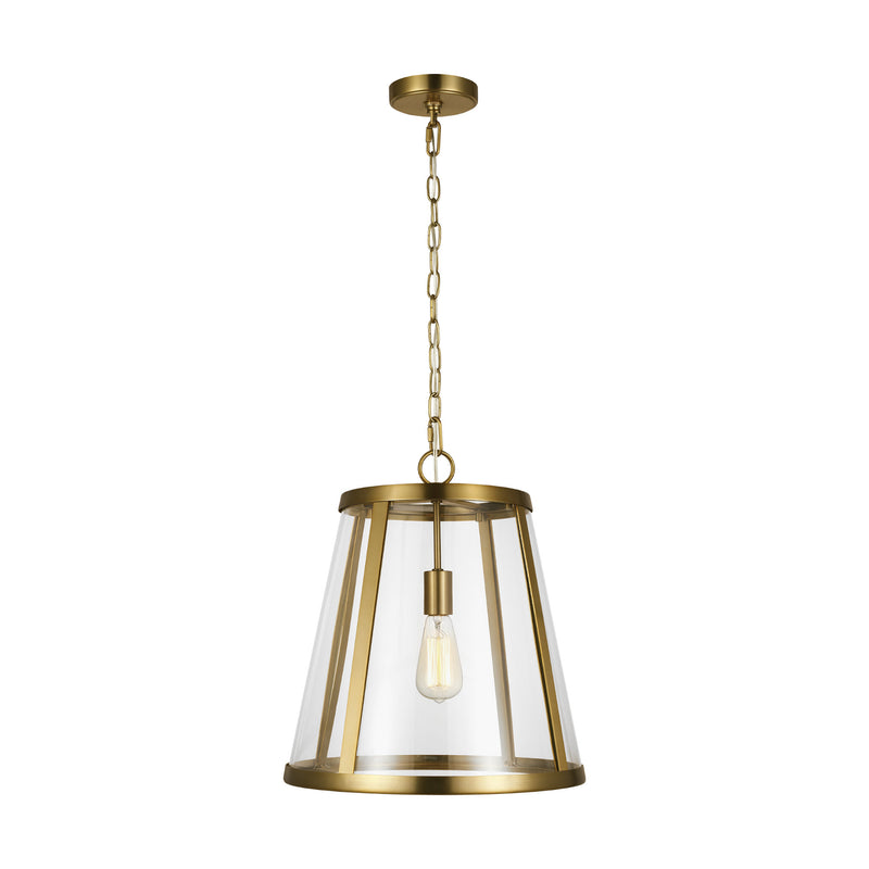 Generation Lighting P1289BBS Feiss Harrow 1 Light Pendant in Burnished Brass