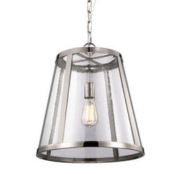 Generation Lighting P1289PN Feiss Harrow 1 Light Pendant in Polished Nickel
