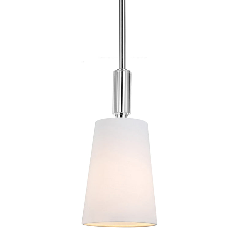 Generation Lighting P1303PN Feiss Lismore 1 Light Pendant in Polished Nickel