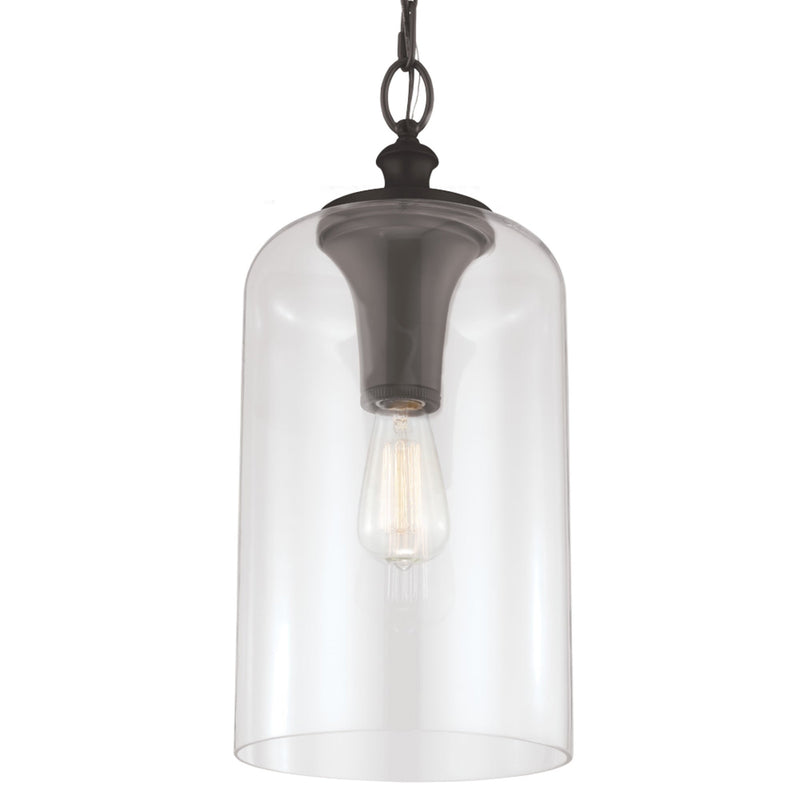 Generation Lighting P1309ORB Feiss Hounslow 1 Light Pendant in Oil Rubbed Bronze