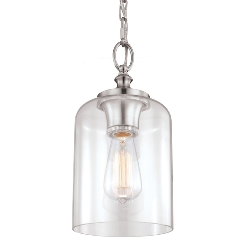 Generation Lighting P1310BS Feiss Hounslow 1 Light Pendant in Brushed Steel
