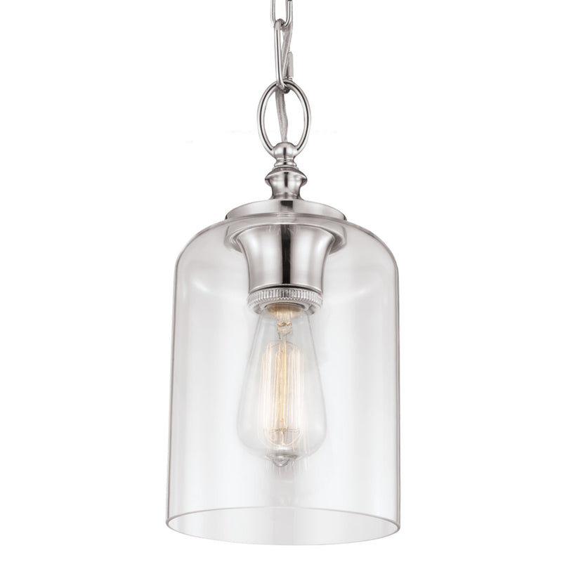 Generation Lighting P1310PN Feiss Hounslow 1 Light Pendant in Polished Nickel