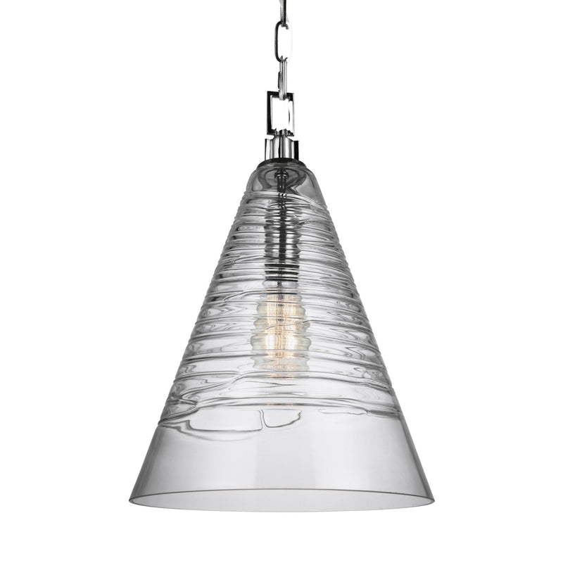 Generation Lighting P1445CH Feiss Elmore 1 Light Pendant in Chrome