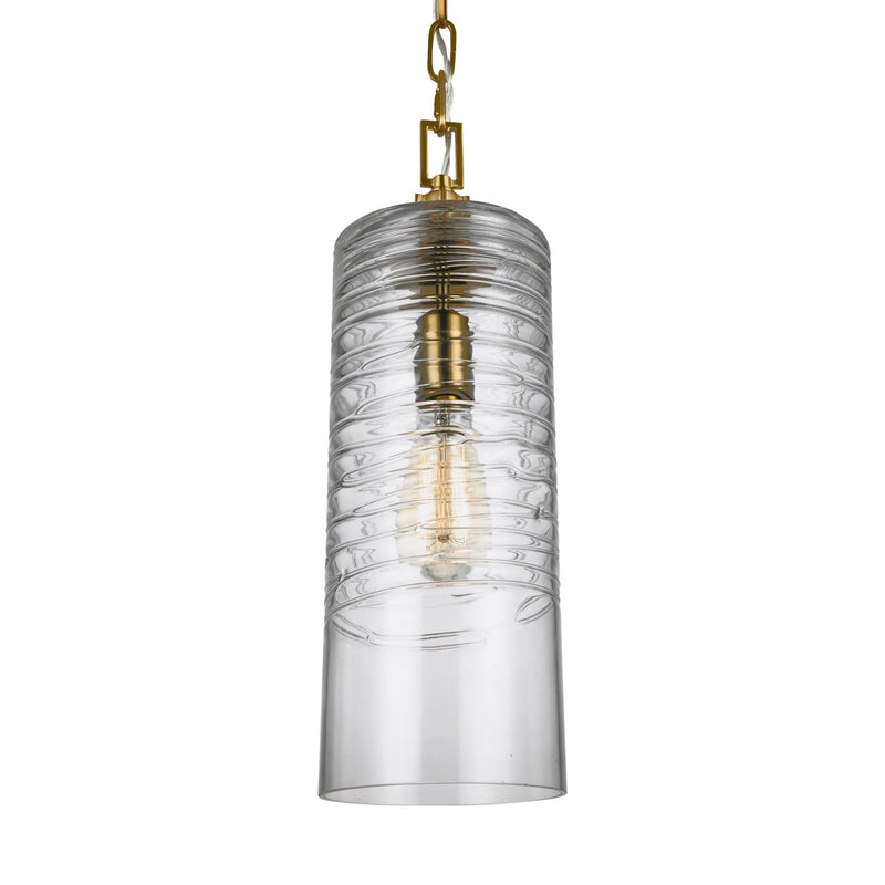 Generation Lighting P1446BBS Feiss Elmore 1 Light Pendant in Burnished Brass
