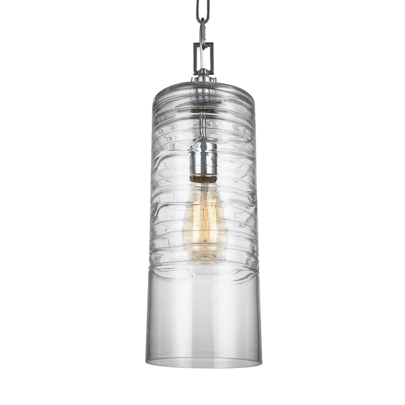 Generation Lighting P1446CH Feiss Elmore 1 Light Pendant in Chrome