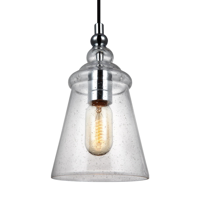 Generation Lighting P1449CH Feiss Loras 1 Light Pendant in Chrome