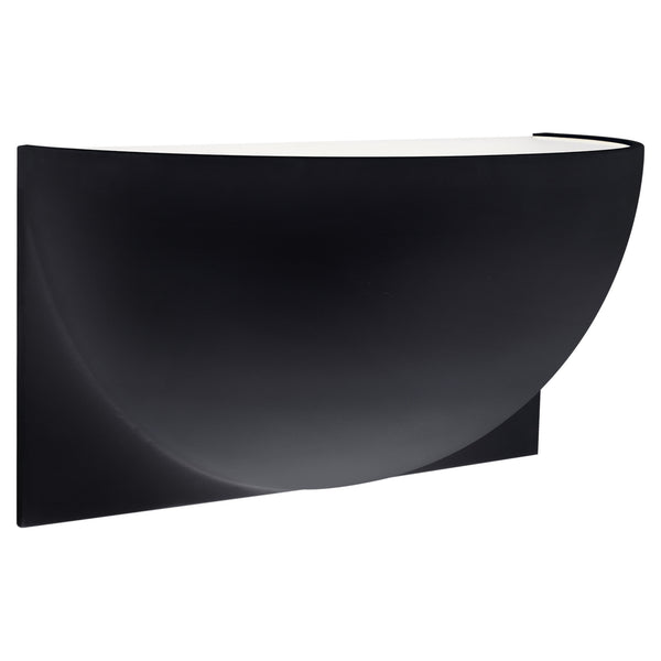 Visual Comfort PB 2070MBK-FG Peter Bristol Quarter Sphere Small Up Light in Matte Black