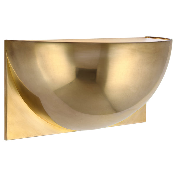 Visual Comfort PB 2070NB-FG Peter Bristol Quarter Sphere Small Up Light in Natural Brass