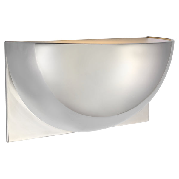 Visual Comfort PB 2070PN-FG Peter Bristol Quarter Sphere Small Up Light in Polished Nickel