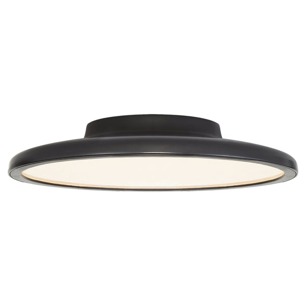 "Visual Comfort PB 4000MBK Peter Bristol Dot 13"" Flush Mount in Matte Black"