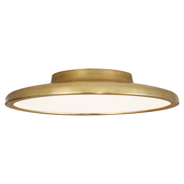 "Visual Comfort PB 4000NB Peter Bristol Dot 13"" Flush Mount in Natural Brass"