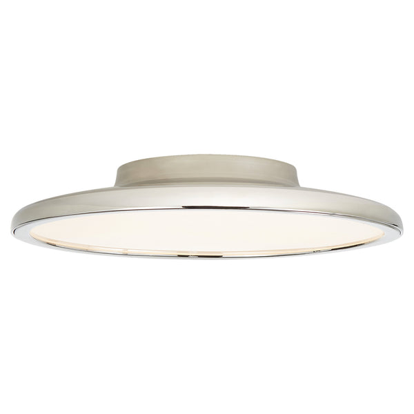 "Visual Comfort PB 4000PN Peter Bristol Dot 13"" Flush Mount in Polished Nickel"