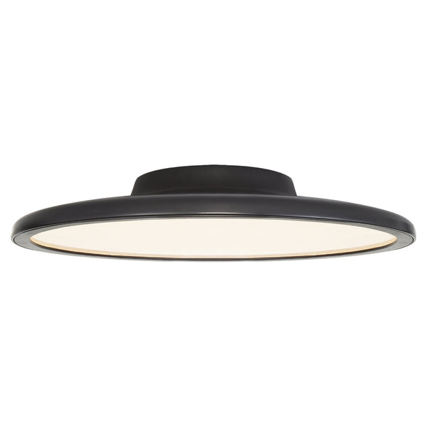 "Visual Comfort PB 4003MBK Peter Bristol Dot 16"" Flush Mount in Matte Black"