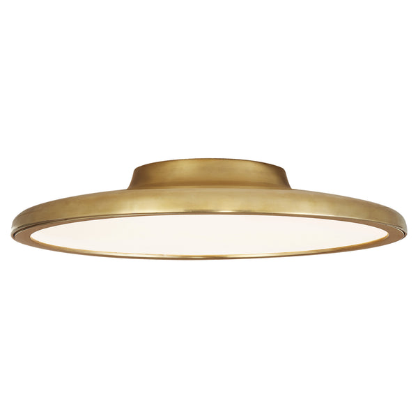 "Visual Comfort PB 4003NB Peter Bristol Modern Dot 16"" Flush Mount in Natural Brass"