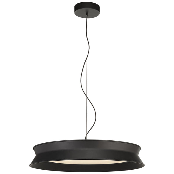 "Visual Comfort PB 5022STB Peter Bristol 60/40 Dot 22"" Pendant in Stone Black"