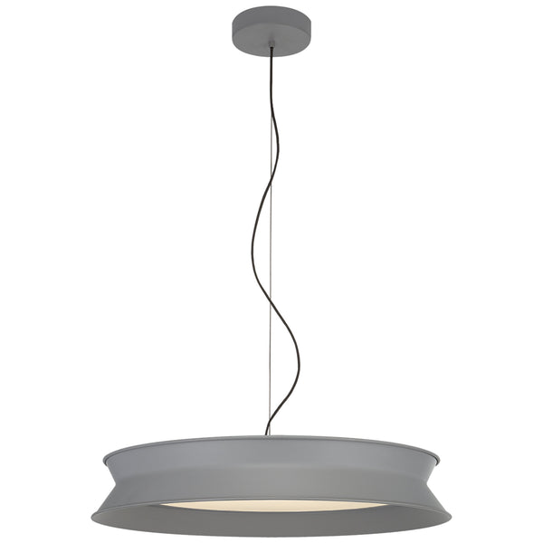 "Visual Comfort PB 5022STG Peter Bristol 60/40 Dot 22"" Pendant in Stone Gray"