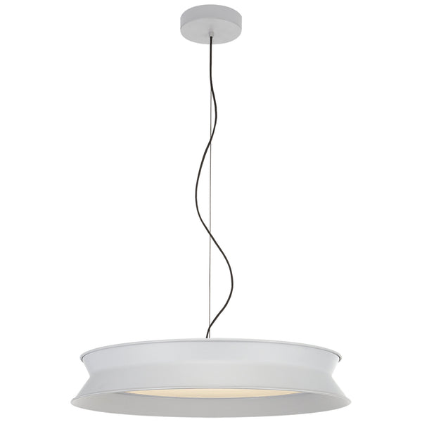 "Visual Comfort PB 5022STW Peter Bristol 60/40 Dot 22"" Pendant in Stone White"