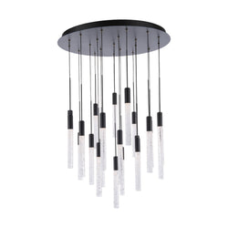Modern Forms PD-35621-BK 3000K 110 Watt Magic LED Round Chandelier in Black