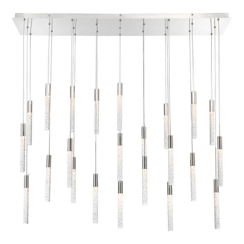 Modern Forms PD-35623L-PN 3000K 120.5 Watt Magic LED Linear Chandelier in Polished Nickel