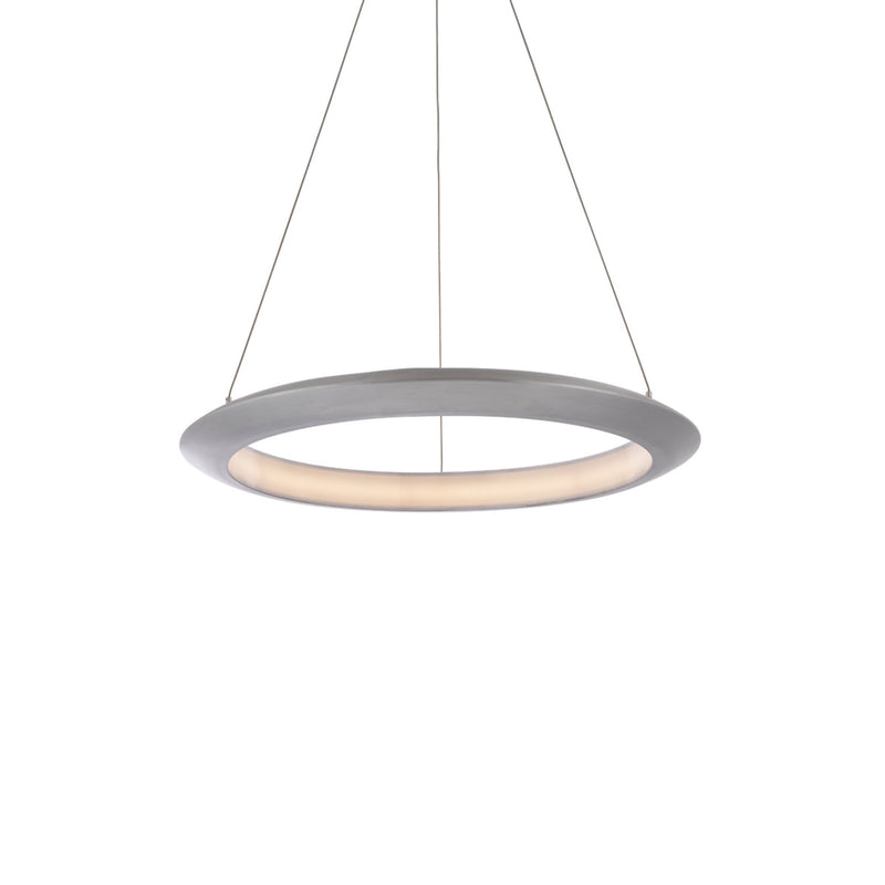 Modern Forms PD-55024-27-AL 2700K 21.6 Watt The Ring LED Pendant in Brushed Aluminum