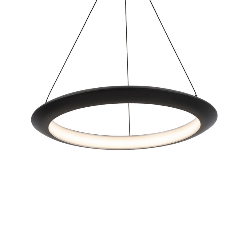 Modern Forms PD-55024-30-BK 3000K 21.56 Watt The Ring LED Pendant in Black