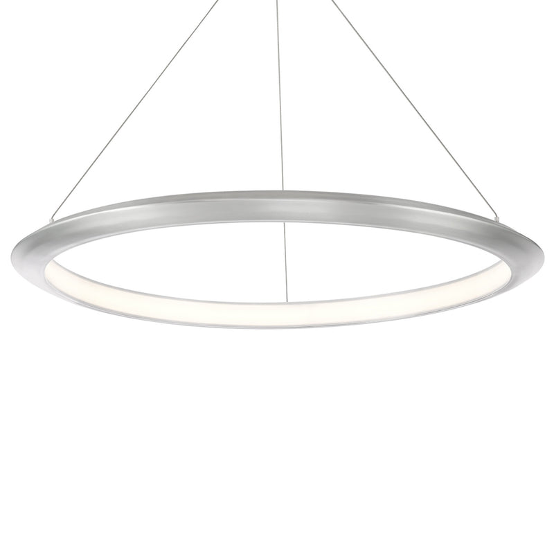 Modern Forms PD-55036-27-AL 2700K 30.1 Watt The Ring LED Pendant in Brushed Aluminum