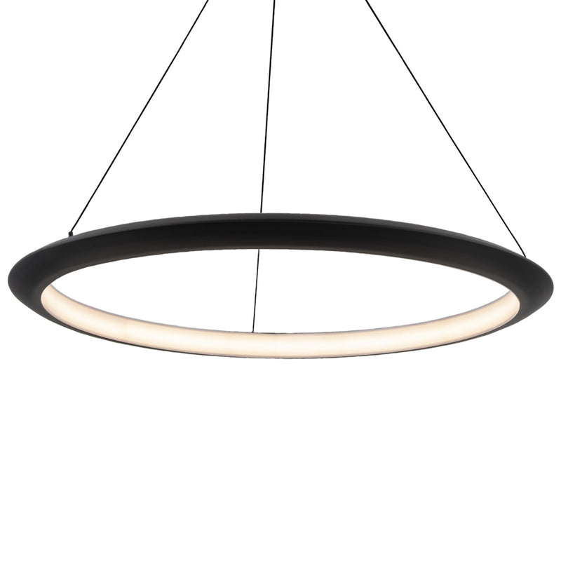 Modern Forms PD-55036-30-BK 3000K 30.09 Watt The Ring LED Pendant in Black
