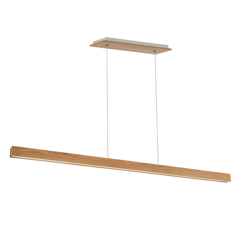Modern Forms PD-58784-WAL 3000K 96 Watt Drift LED Linear Pendant in Walnut