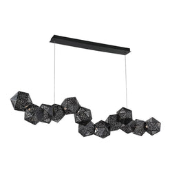 Modern Forms PD-62864-BK 3000K 34 Watt Riddle LED Linear Pendant in Black