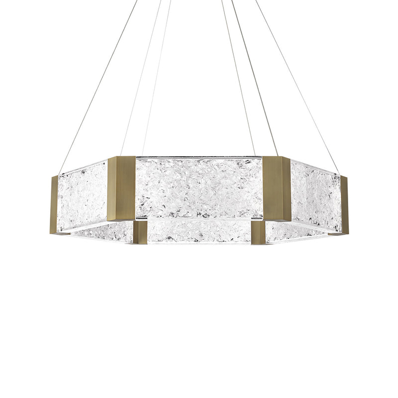 Modern Forms PD-76034-AB 3000K 32 Watt Forever LED Chandelier in Aged Brass