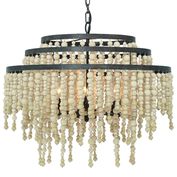 Crystorama POP-A5076-FB Poppy Chandelier in Forged Bronze