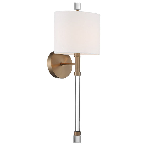 Crystorama RAC-A3501-VG Rachel Wall Mount in Vibrant Gold
