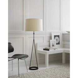 Visual Comfort S 1400AI-NP Studio VC Casual Dauphine Floor Lamp in Aged Iron with Natural Paper Shade