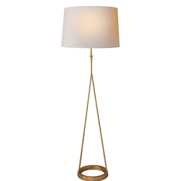 Visual Comfort S 1400GI-NP Studio VC Casual Dauphine Floor Lamp in Gilded Iron