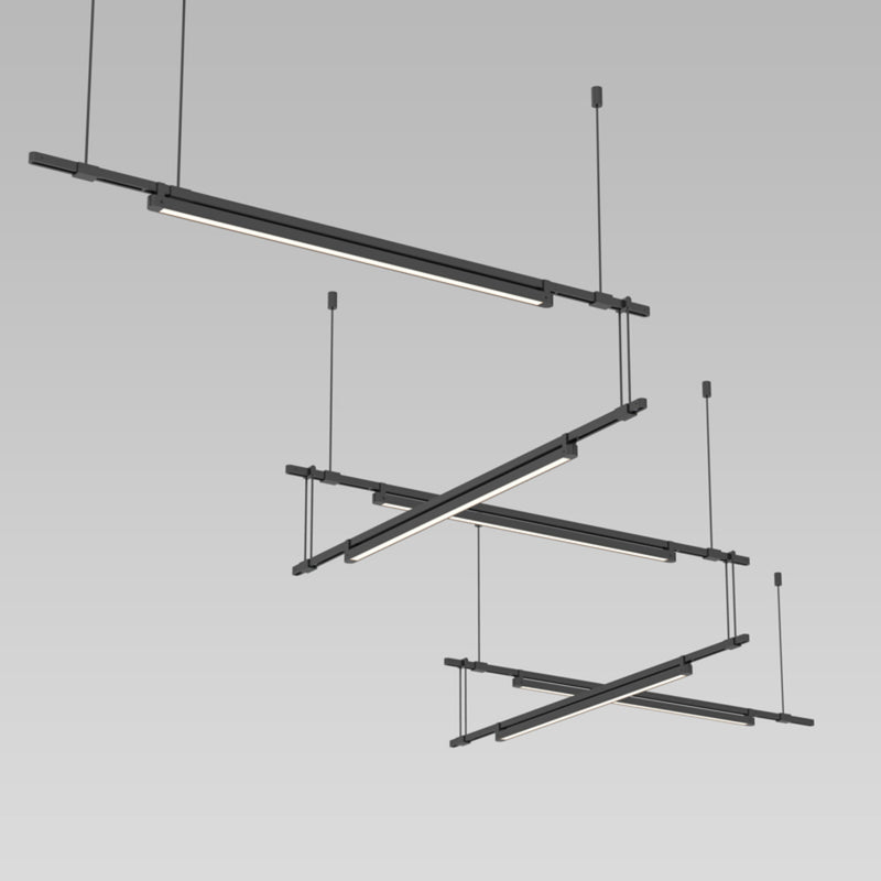 "Sonneman S1K36K-JR1806XX-LB24 Suspenders 36"" 5-Bar Zig Zag with 24"" Light Bar Luminaires in"
