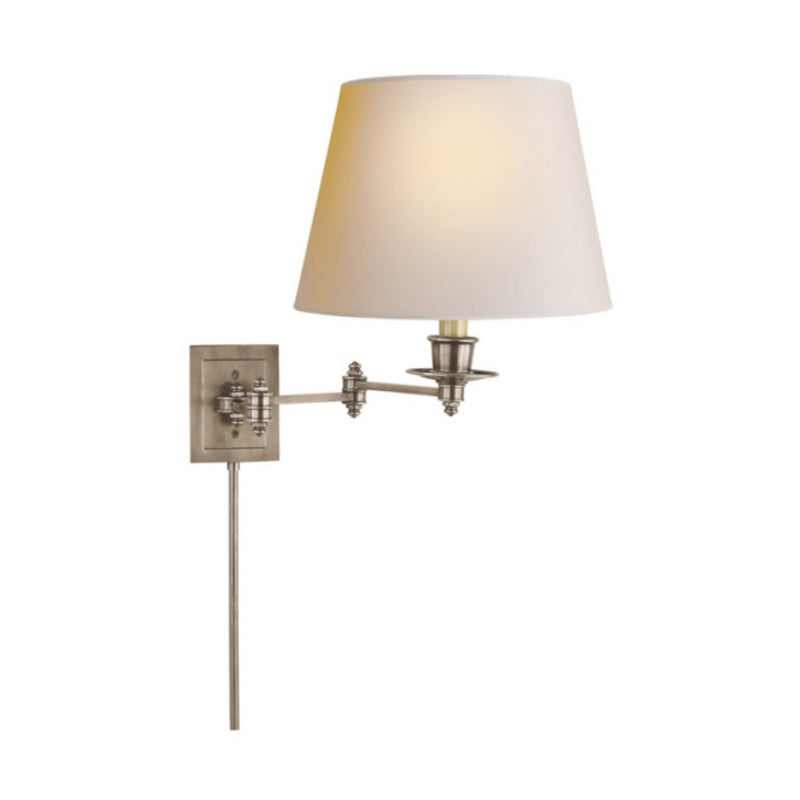Visual Comfort S 2000AN-NP Studio VC Triple Swing Arm Wall Lamp in Antique Nickel
