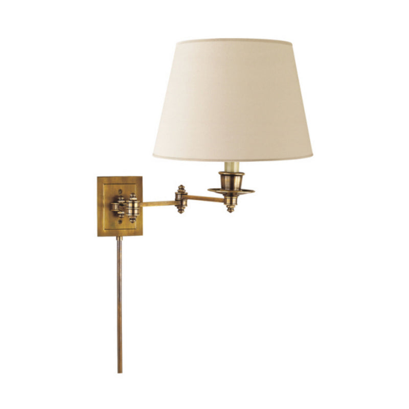 Visual Comfort S 2000HAB-L Studio VC Triple Swing Arm Wall Lamp in Hand-Rubbed Antique Brass