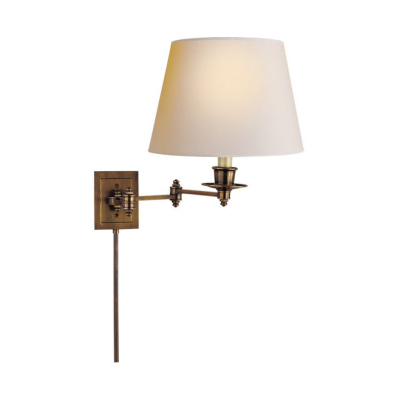 Visual Comfort S 2000HAB-NP Studio VC Triple Swing Arm Wall Lamp in Hand-Rubbed Antique Brass