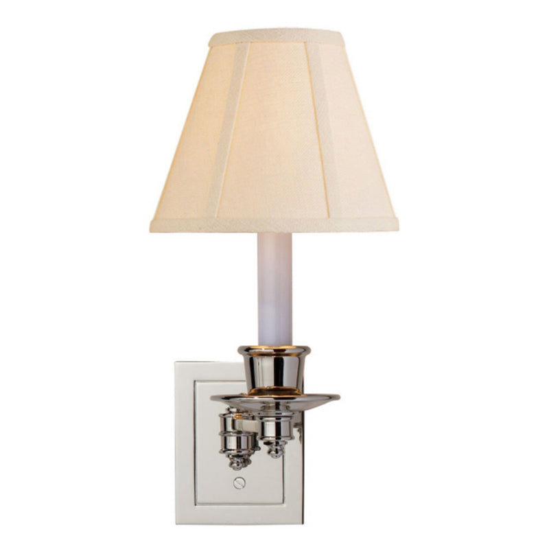 Visual Comfort S 2005PN-L Studio VC Single Swing Arm Sconce in Polished Nickel
