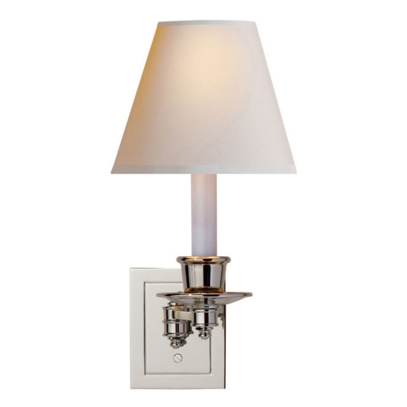 Visual Comfort S 2005PN-NP Studio VC Single Swing Arm Sconce in Polished Nickel