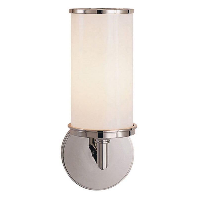 Visual Comfort S 2006PN-WG Studio VC Cylinder Sconce in Polished Nickel