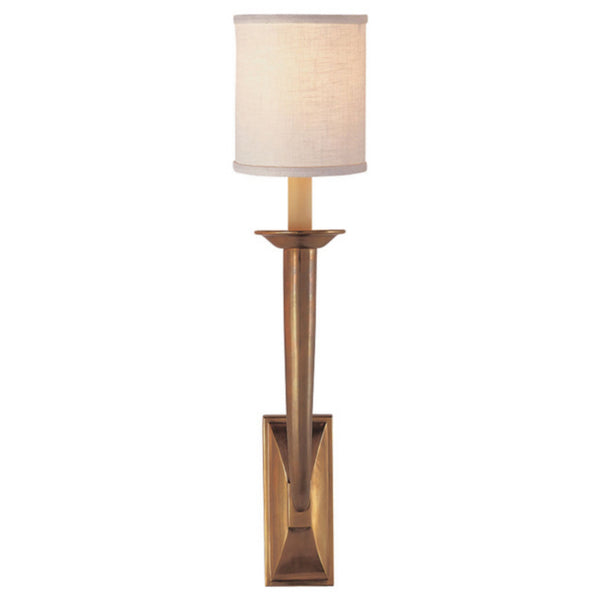 Visual Comfort S 2020HAB-L Studio VC French Deco Horn Sconce in Hand-Rubbed Antique Brass