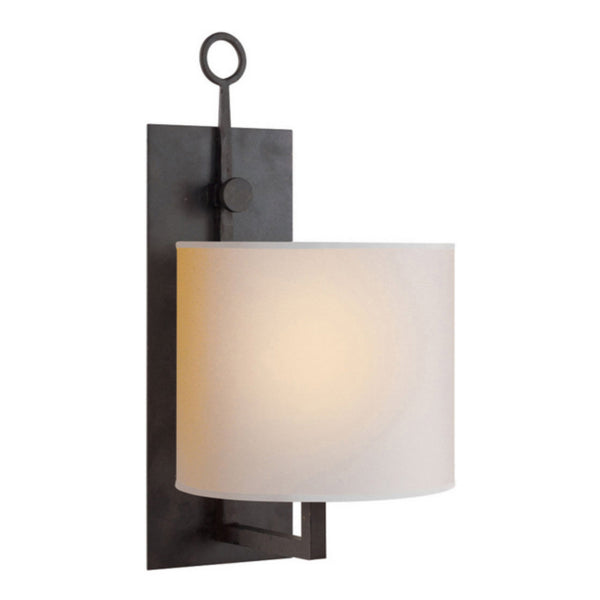 Visual Comfort S 2030BR-NP Ian K. Fowler Aspen Iron Wall Lamp in Blackened Rust