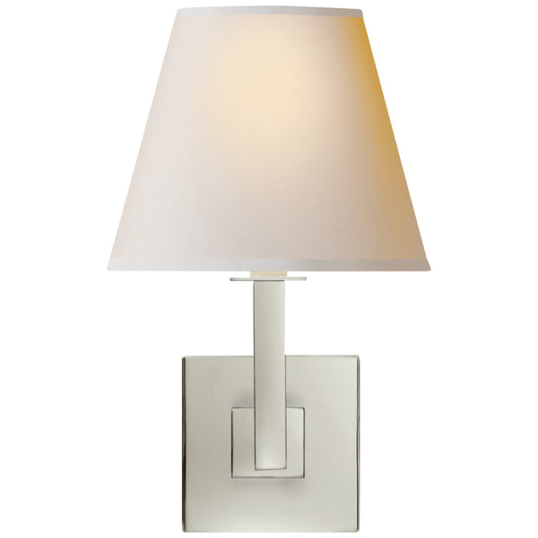 Visual Comfort S 20PN-NP Studio VC Architectural Wall Sconce in Polished Nickel