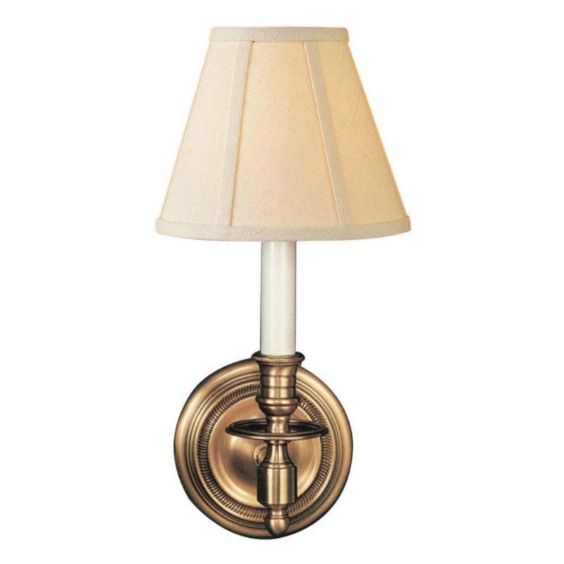 Visual Comfort S 2110HAB-L Studio VC French Single Sconce in Hand-Rubbed Antique Brass