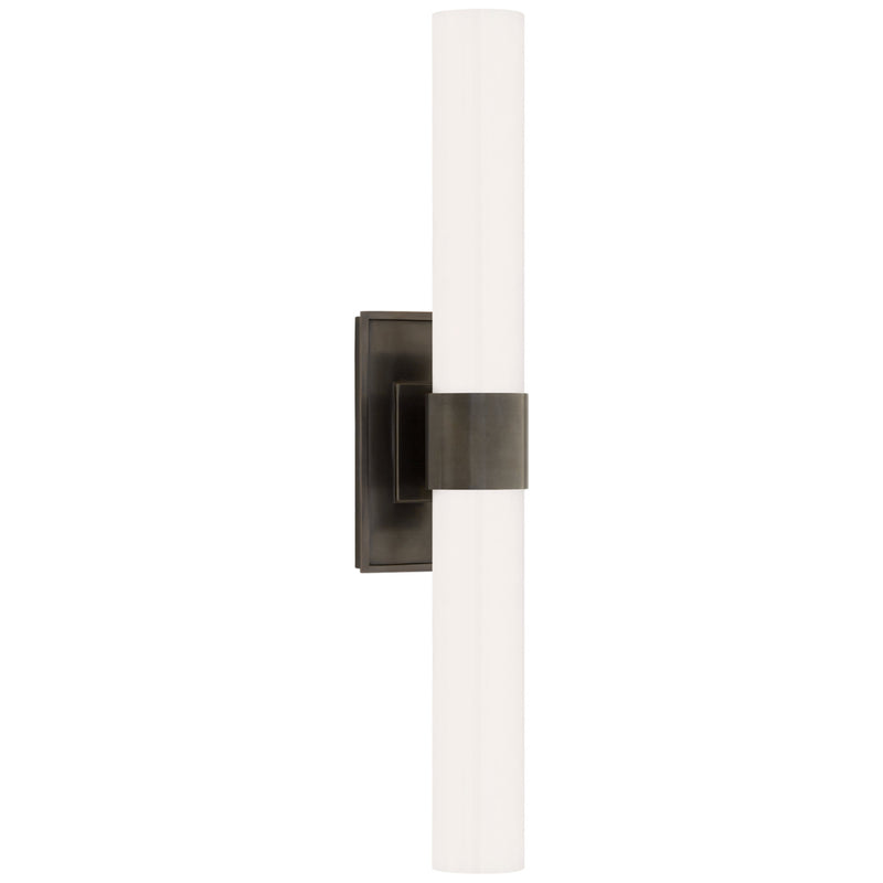Visual Comfort S 2164BZ-WG Ian K. Fowler Presidio Petite Double Sconce in Bronze