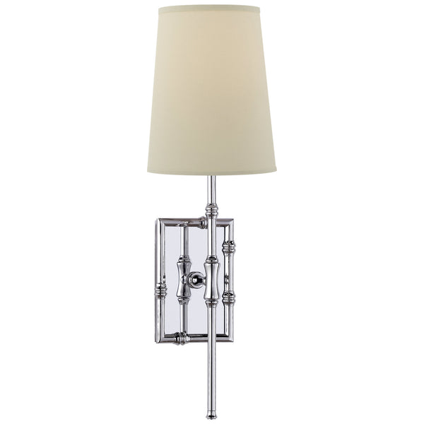 Visual Comfort S 2177PN-PL Studio VC Grenol Single Modern Bamboo Sconce in Polished Nickel